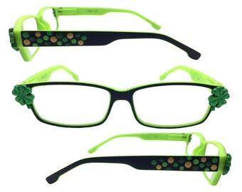Shamrocks St Patrick/'s Day Reading Glasses 2.0