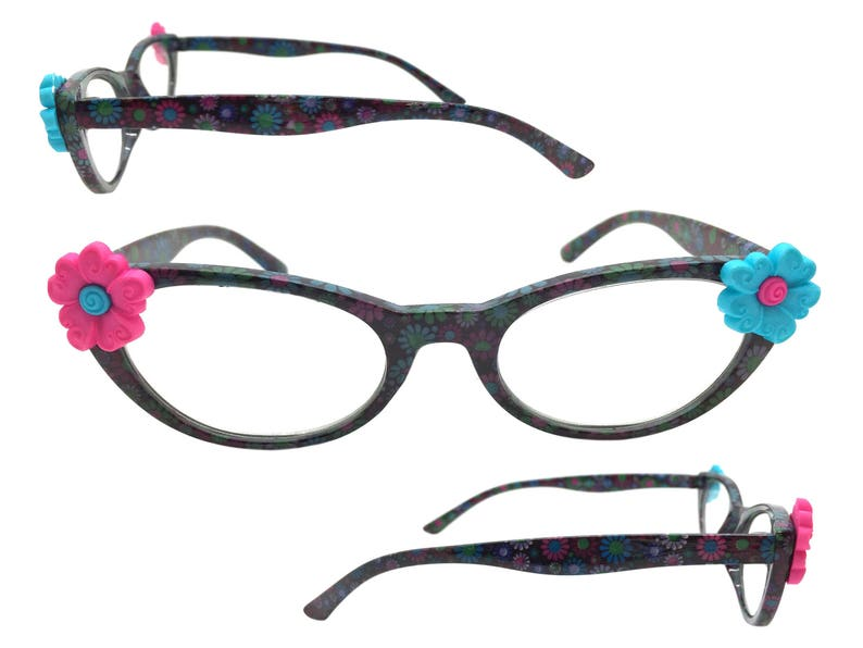 f1d3e66ca0 Womens Multi-Color 2.50 Strength Cat Eye Reading Glasses