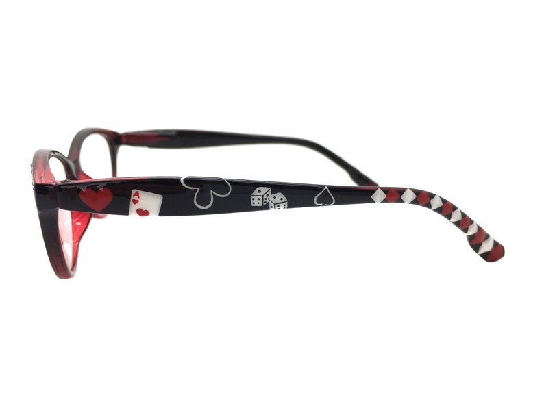 Playing Card Reading Glasses +1.75 Strength, Hand Painted