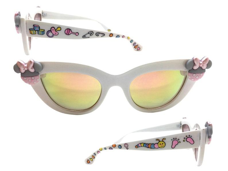 60edabc163d3 Baby Minnie Mouse Sunglasses Disney Sunglasses White Cat Eye | Etsy