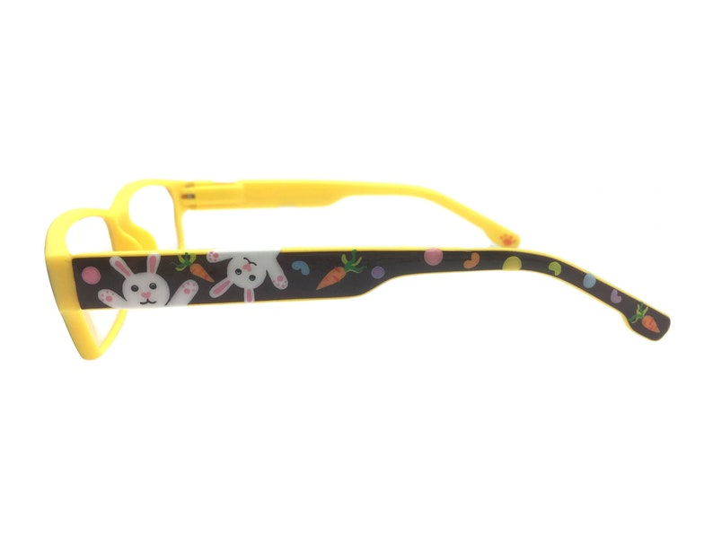 Handpainted Easter Reading Glasses 1.25 Strength, Easter Bunny, Carrots, Jelly Beans, Polka Dots, Optical Quality