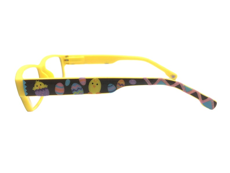 Easter Readers +1.25 Strength, Easter Eggs, Chick, Bunny, Hand Painted, Optical Quality