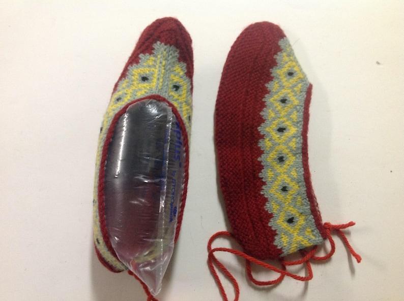 b09af61d50dd8 Nordic patterned knit slippers