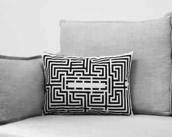 Maze Pillow Case Etsy