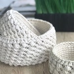Modern Crochet Nesting Baskets | Set of 3 | THE NIDO BASKET