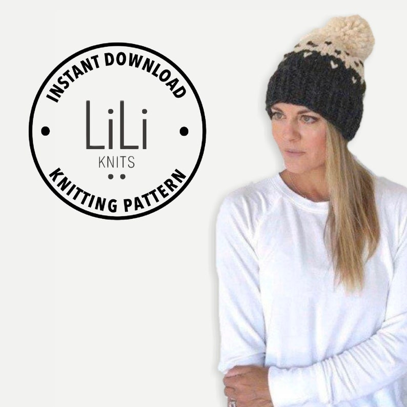 Pattern  LiLiKnits Chunky Knit Slouchy Fair Isle Hat  THE image 0