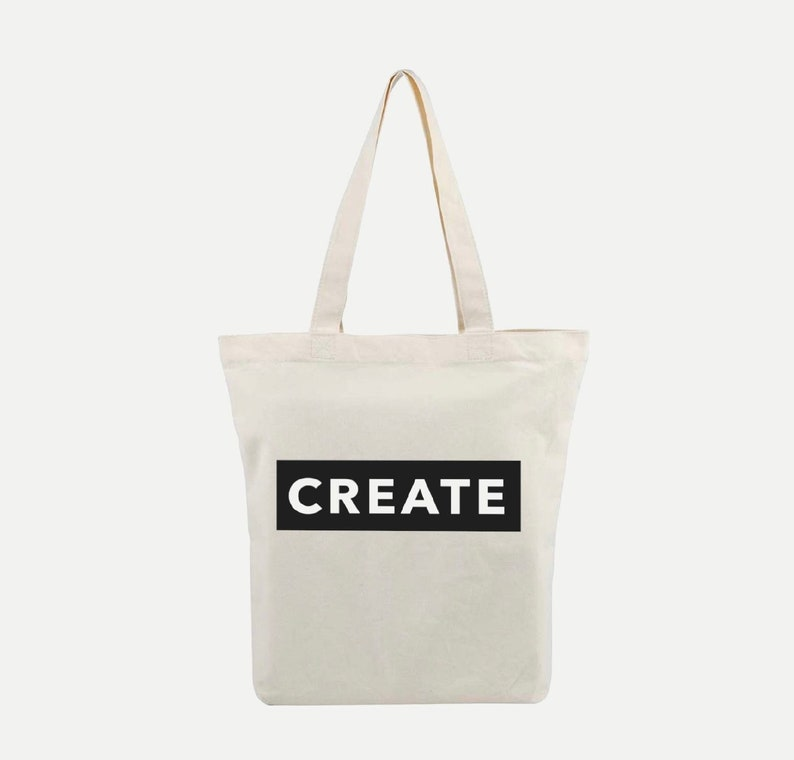 Knit  Crochet  Craft Canvas Project Tote Bag  CREATE image 0