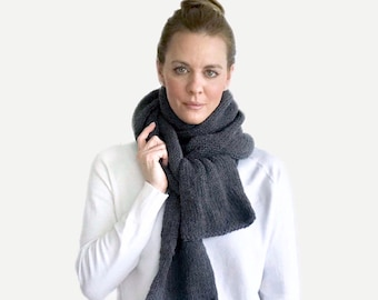 Double Knit XL Open-Ended Scarf |  THE VENETIAN