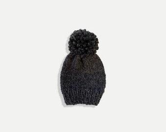 Chunky Knit Slouchy Hat with yarn pom | THE SPESSO