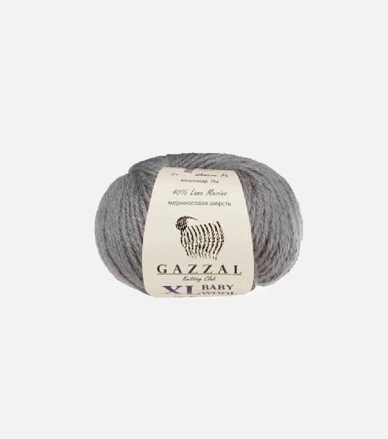 Gazzal baby wool XL yarn  light grey gray image 0