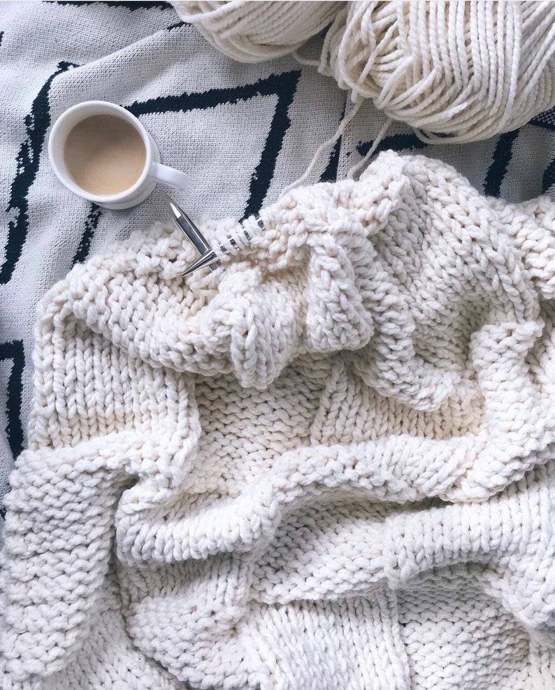 Knitting Pattern LiLiKnits Chunky Knit Basketweave Blanket ...