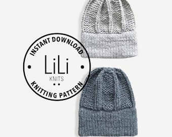 Pattern | LiLiKnits Chunky Knit Double Brim Hat | THE FIRENZE BEANIE | Instant Download