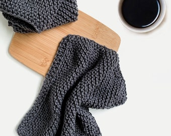 Hand Knit 100% Cotton Dish Cloth Hand Towel | Set of 3 | THE MAPPINA |