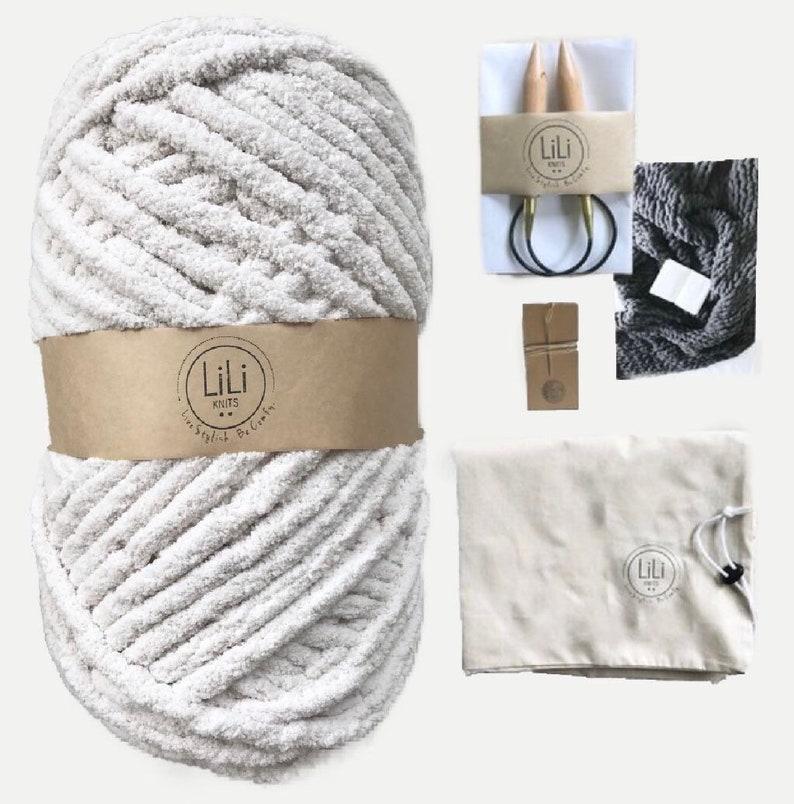 DIY Knitting Kit  Giant Jumbo Chenille Throw  The GRANDE image 0