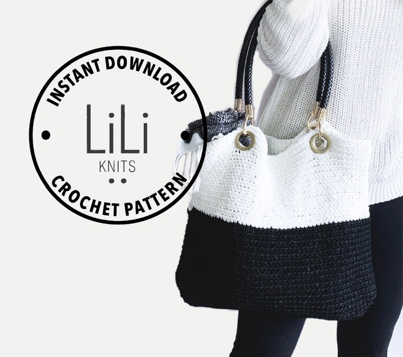 Pattern  LiLiKnits Crochet Tote Beach Bag Purse  THE image 0
