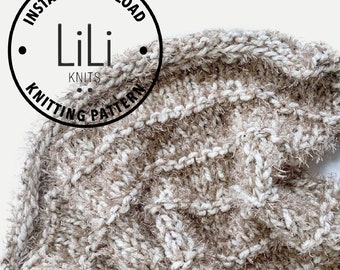 Knitting Pattern | LiLiKnits Chunky Knit Faux Fur Blanket Throw Afghan Pattern | THE PELOSA | Instant Download