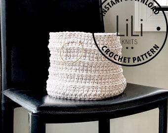 Pattern | LiLiKnits Crochet Modern Basket  | THE CESTINO BASKET | Instant Download