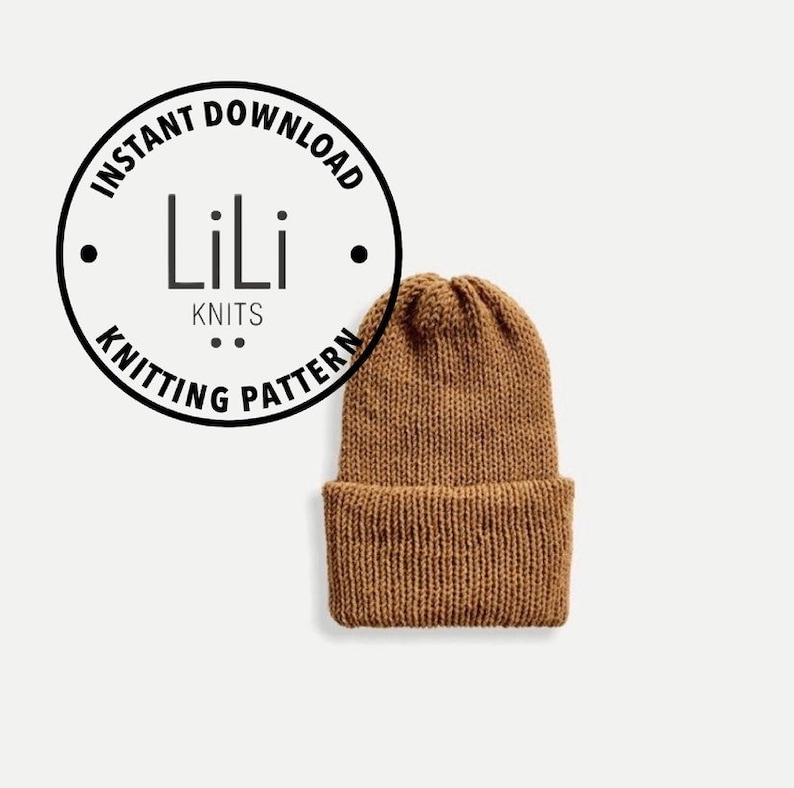 Pattern  LiLiKnits Knit Double Knit Reversible Unisex Beanie image 0