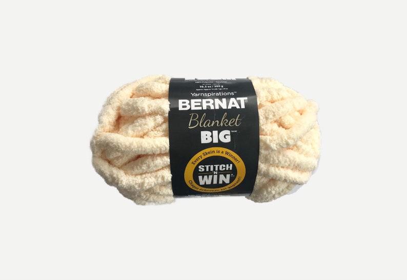 Yarnspirations Bernat Blanket BIG Yarn  Flax image 0