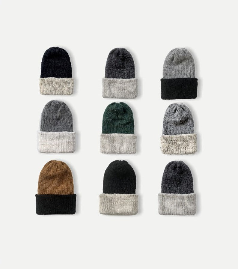 3 color Reversible Double Knit Beanie with Fold Up Brim  THE image 0