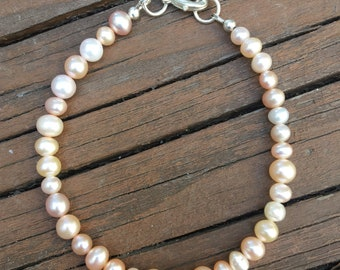 Multicolored Freshwater Pearls Bracelet- June's Birthstone