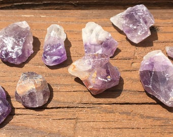 Parcel- Medium Amethyst Chips and Points- February Birthstone