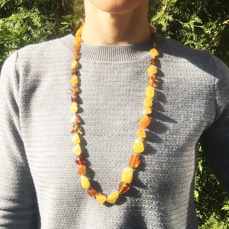 comes in a lovely gift box Amber Jewellery NEW Long Honey-mix baltic amber Necklace Necklace