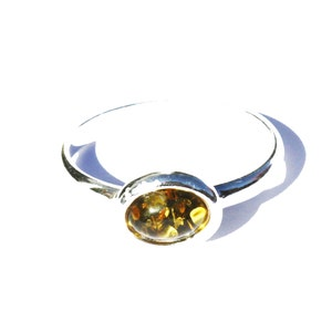 Chunky real statement baltic amber ring Honey or green amber options gemstone amber jewellery Genuine Amber is set in sterling silver 925