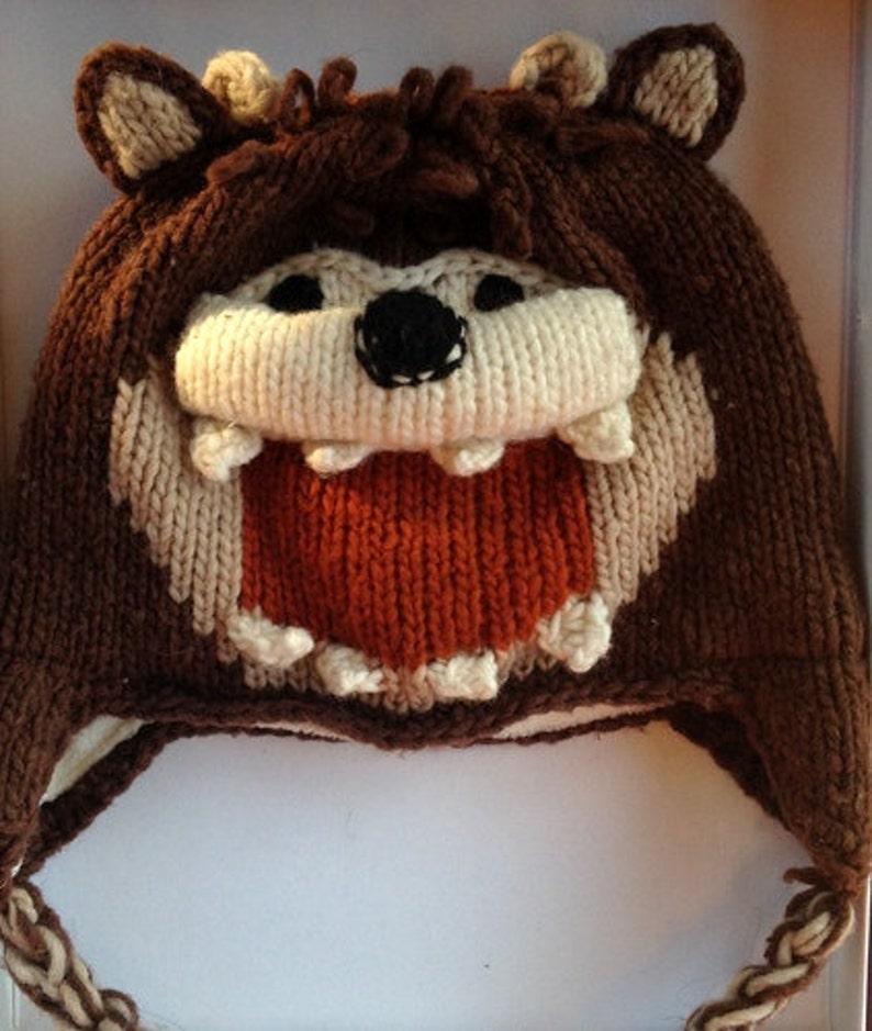 3fc925c18 Devil knitting hats Tasmanian devil characters hat