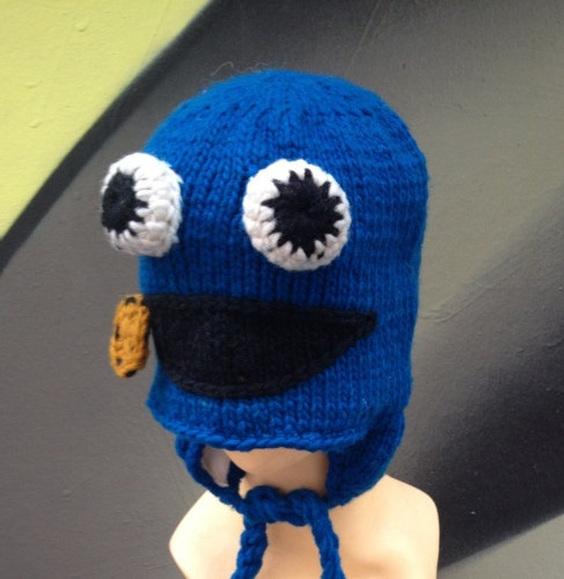 35182dc9cab Hats Cookie Googly eyed monster hat cookie Monster hat cute