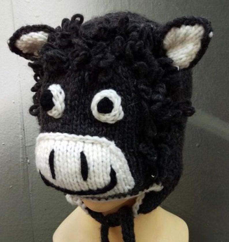 b8007be9ac4 Winter donkey hat cute hats children s wear beanie cap