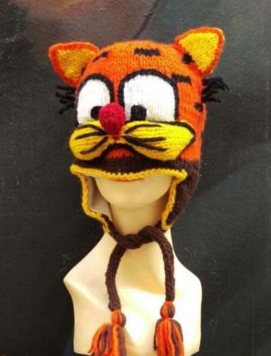 f30f81b64 Tiger hat, animal beanie, knitting cat cap, cute hat, hat for cat lover,  cat beanie, animal hat, hat with cat ears, Unique handmade hats