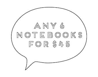 Notebooks / Set of 6