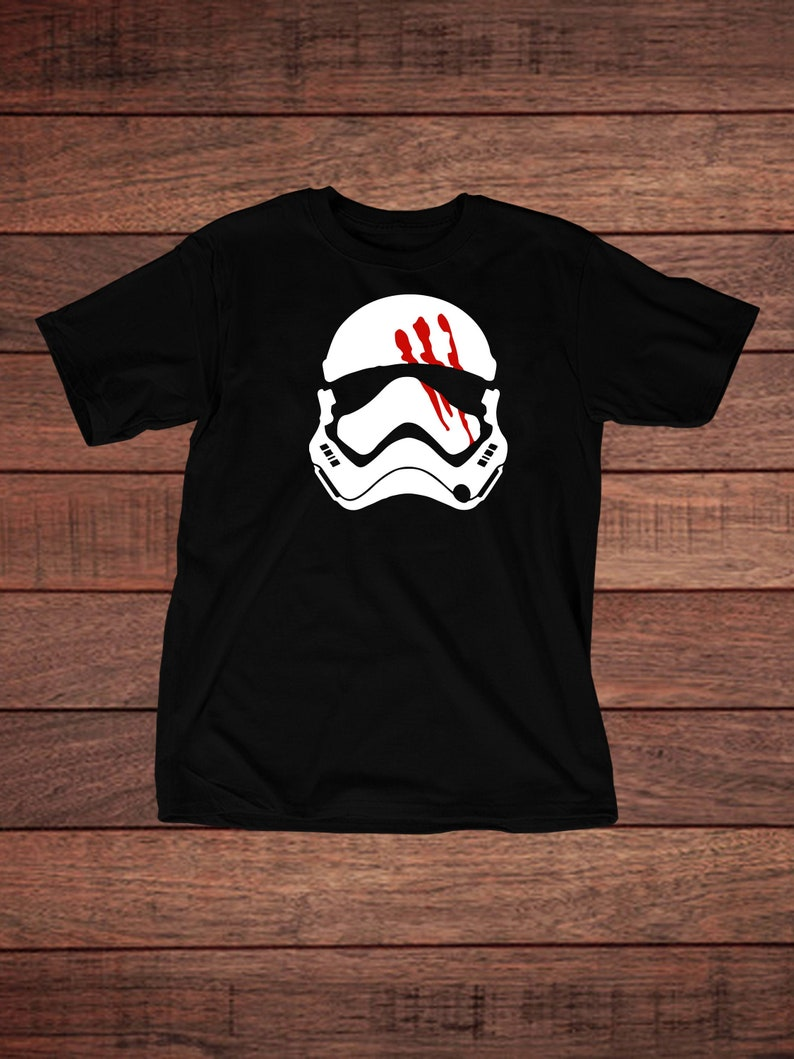 Star Wars Stormtrooper with Bloody Hand Print is an Iconic Twist in the Star Wars Movie Celebrate Galaxy/'s Edge with this T-Shirt