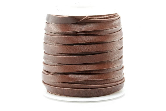 316 Inch 5MM Spool of Brown Deerskin Leather Lace 50ft Roll