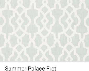 Summer Palace Fret in Mineral  Colorway