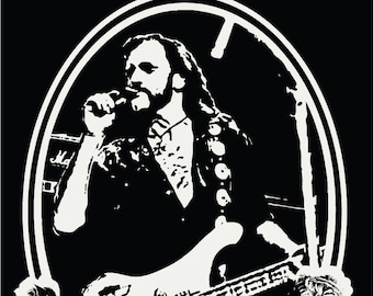 Lemmy / Motorhead /Poster / lemmy Dedication / Metal  / POP ART / Junkyard Beautyshop