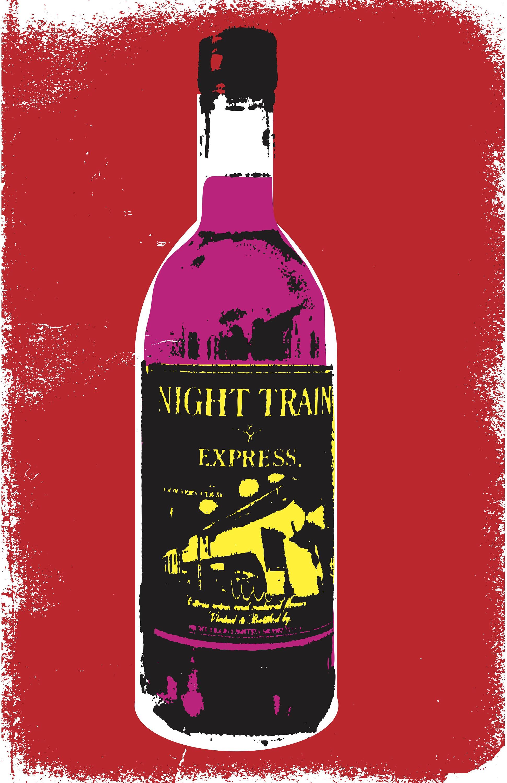 Night Train Drunk Lowbrow Bum Wine Art Punk Pop Etsy