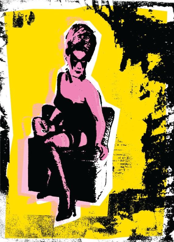Reclinable / Art Print / cartel / Punk regalo / arte Punk / | Etsy