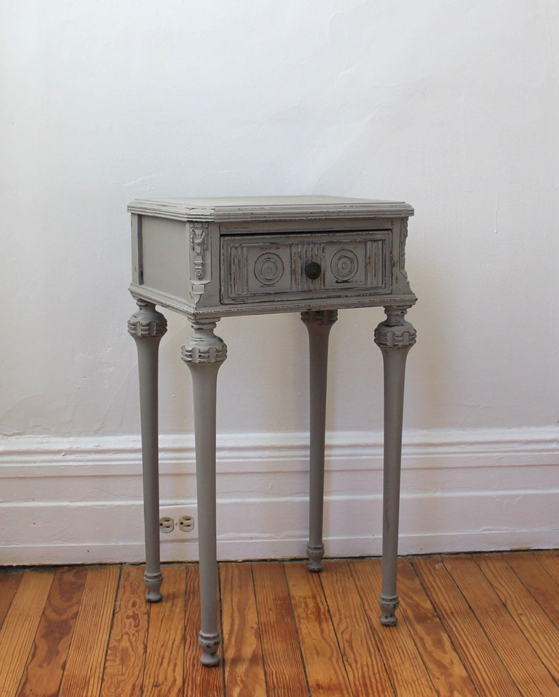 Vintage French Style, Cottage, Farmhouse Side Table, Nightstand