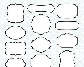 circle frames clip art 42 black white digital borders etsy