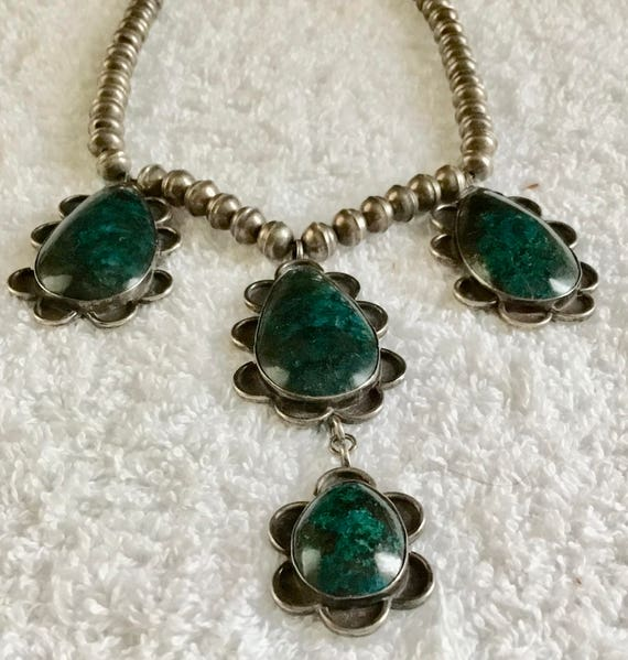 NA 2-Y  Sterling Native American Necklace