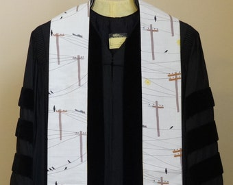 Clergy Country Stole:  Birds and Squirrels