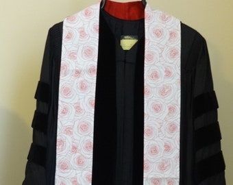 Clergy Stole for Pentecost: Red Roses