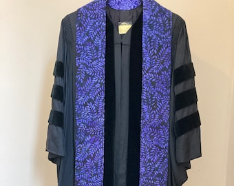 Clergy Stole for Lent or Advent:   Purple Leaves and Branches