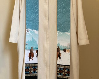 Clergy Stole for the West: Winter Ranch