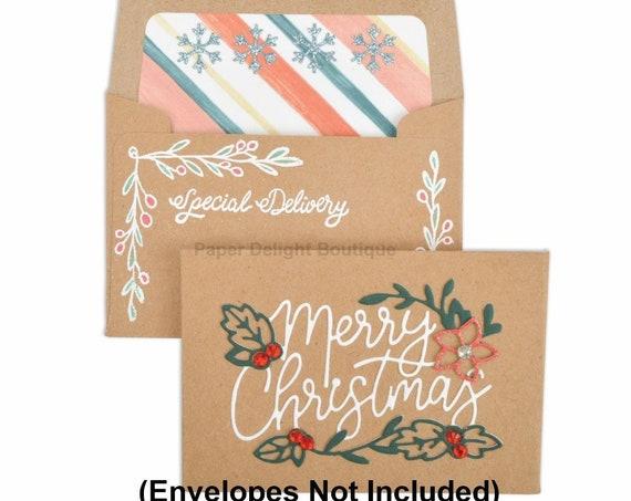 New! Sizzix Framelits Die Set 7PK w/Stamps - Envelope Liners, Mini by Katelyn Lizardi 663151