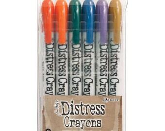 Ranger Tim Holtz Distress Crayons - Set # 9 - Water Reactive Pigments