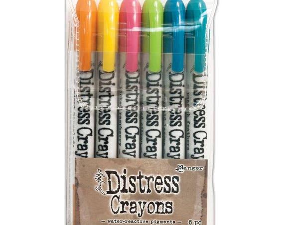 Ranger Tim Holtz Distress Crayons - Set # 1 - Water Reactive Pigments
