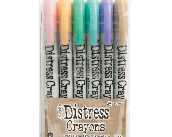 Ranger Tim Holtz Distress Crayons - Set # 5 - Water Reactive Pigments